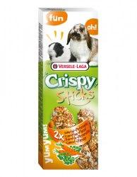 Палочки-лакомства Crispy Sticks для кроликов и морских свинок с морковью и петрушкой, 110г