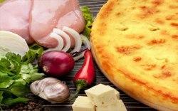 Мясо, сыр и болгарский перец