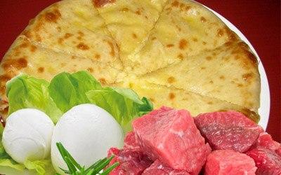 Мясо и моцарелла
