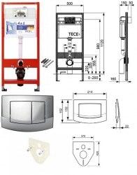 Инсталляция TECE TECEprofil base kit (4 в 1)