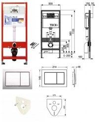 Инсталляция TECE TECEprofil base kit ( 4 в 1)