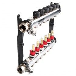 Коллектор стальной для поверхностного отопления в сборе TECEfloor