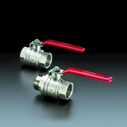 """Optibal шаровый кран с рычажной рукояткой Oventrop Ду40, G1 1/2""""ВР, PN20, PN16, латунь"""