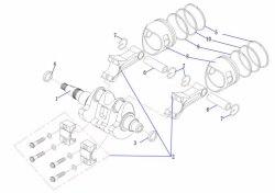 Поршень Yamaha 15 л.с. 4 т F15-01.02.02.01
