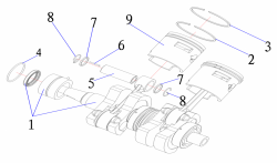 Поршень Yamaha 30 л.с. 2 т 30F-01.04.00.24