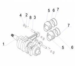 Поршень Yamaha 15 л.с. 2 т 15F-01.06.33.11
