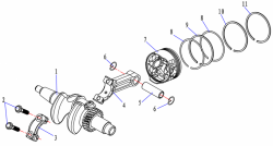 Шатун Yamaha/Hidea 5 139cc