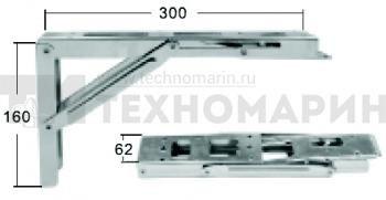 Кронштейн столешницы складной до 150кг 6085