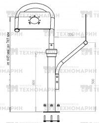Консоль рулевая поворотная Техномарин 040402T