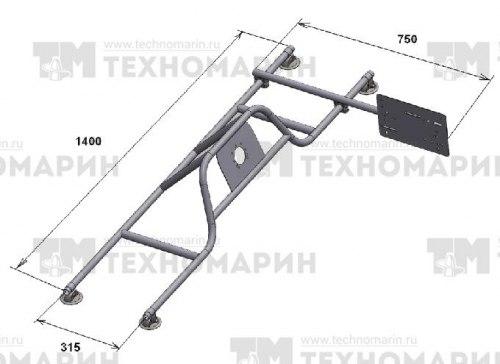 Консоль рулевая с бортовым креплением малая Техномарин 040403T