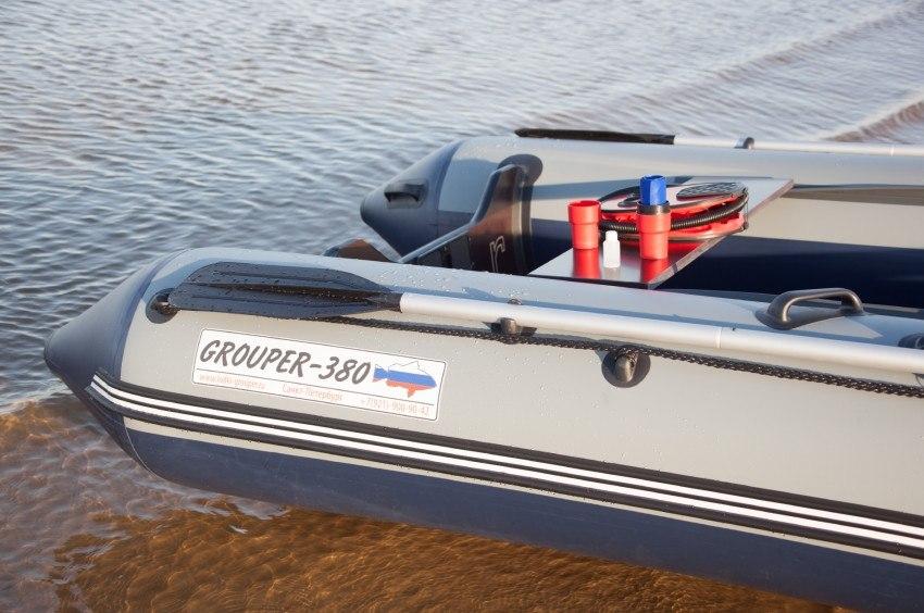 лодки пвх с надувным дном низкого давления групер