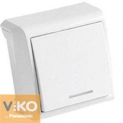 Выключатель 1 с подсветк откр Вера Viko VERA 90681019
