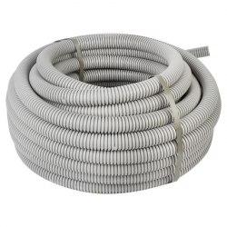 Труба ПВХ гнучка гофр. д.50мм, стандартна з протяжкою, сірий колір ДКС 91950