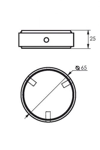 Заглушка для барной стойки d50 (Z001) SOLLER 170-010