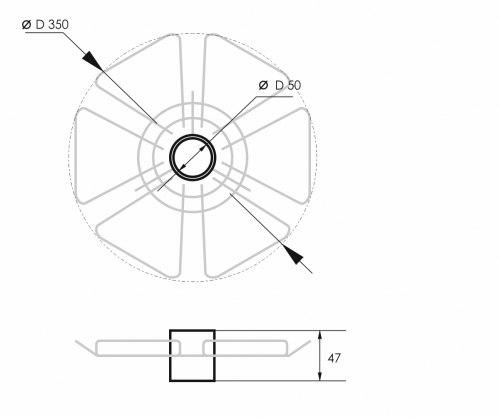 Полка для бокалов (350*50) d50мм SOLLER 170-001