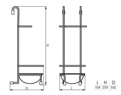 Подставка для ложек (158*105*271) SOLLER KS-2005(183-004)