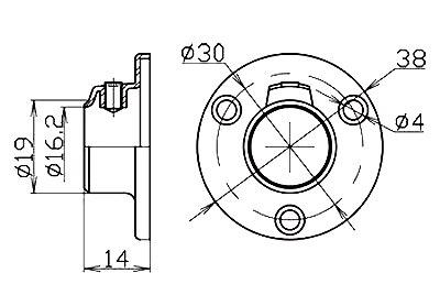 Штангодержатель для рейлинга d16, 1,2мм SOLLER 7887 (171-012)