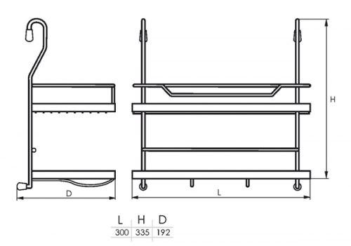Полка двойная (300*192*335) SOLLER KS-2040 (183-019)