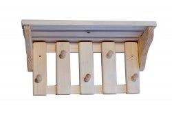 Подставка для банных принадлежностей с вешалкой 5 креплений