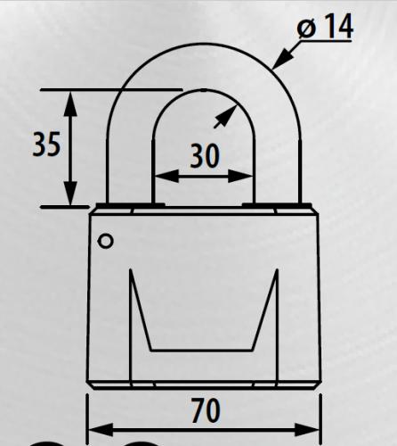 Набор навесных замков ЧАЗ ВС2М1