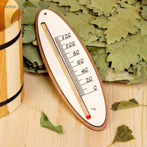 Термометр для бани жидкостный овал