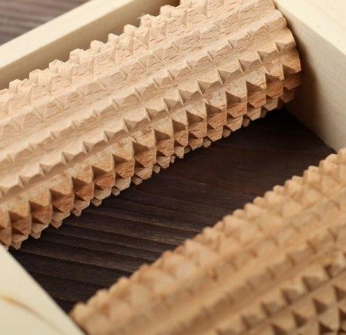 Массажер деревянный для одной стопы, 2 валика, бук 2681968