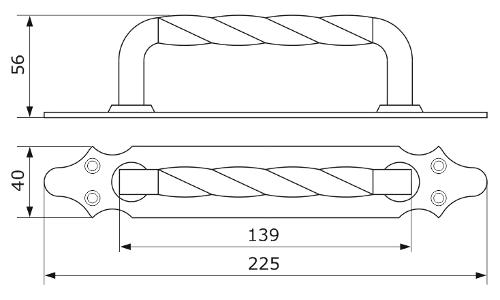 Ручка декоративная ДОМАРТ 4 (225мм)