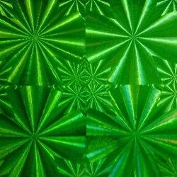 Пленка самоклеящаяся SOLLER М021С зеленая 0,45*8М голограмма