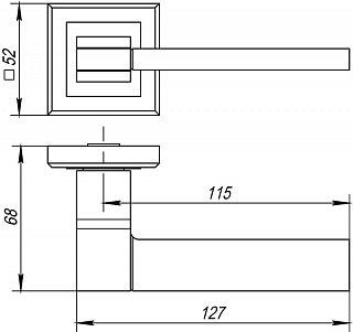 Дверная раздельная ручка Punto TECH QL