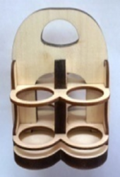 Подставка под масла комбинированная на 4 бутылочки МДФ