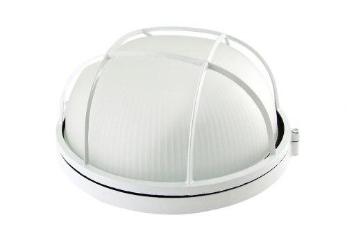 Светильник белый/круг с реш. 100Вт IP54 TDM НПБ1102