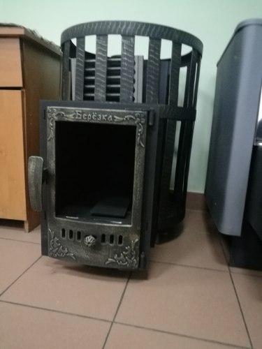 Печь-камин Березка Викинг 15 (сетчатый кожух, стеклянная дверца)