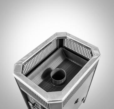 Печь банная Радуга ПБ-11Б (под навесной бак 45л) ст 6мм