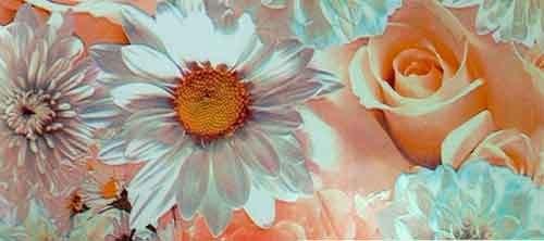 Пленка с/к 45смх8м (свадебные цветы) Deluxe 2169