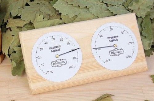"""Термометр- гигрометр для бани """"Классика"""", 12,5х2х23,5см, Добропаровъ 3821163"""