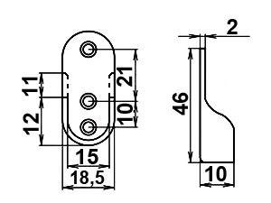 Штангодержатель мебельный 15-30мм сталь 6.111