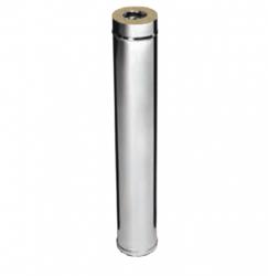 Дымоход 1,0м FERRUM AISI 430/0,5+AISI 430/0,5