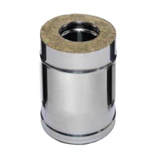 Дымоход 0,25м FERRUM AISI 430/0,8+AISI 430/0,5