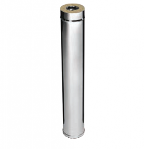 Дымоход 1,0м FERRUM AISI 430/0,8+AISI 430/0,5