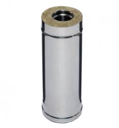 Дымоход 0,5м FERRUM AISI 430/0,5+ОЦ/0,5