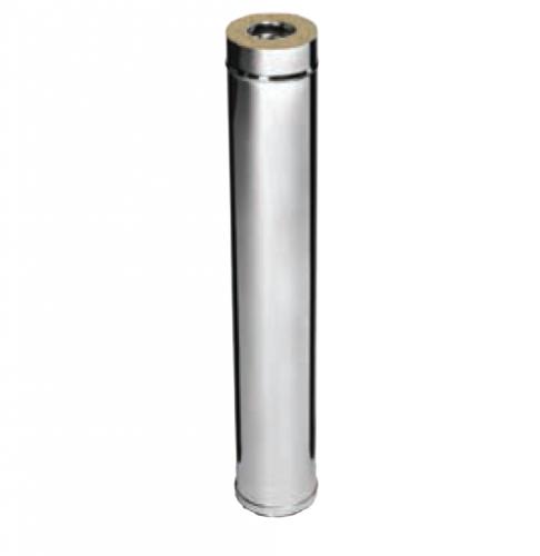 Дымоход 1,0м FERRUM AISI 430/0,5+ОЦ/0,5