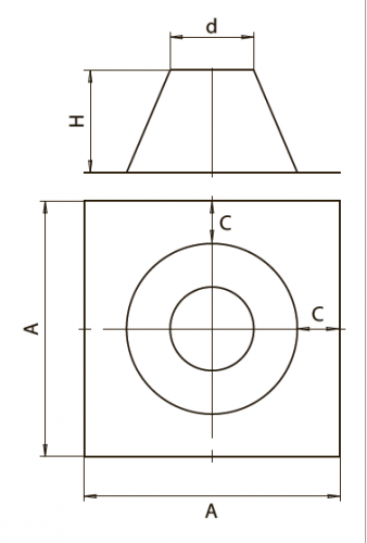 Крышная разделка прямая FERRUM AISI 430/0,5мм