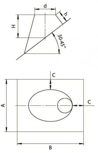 Крышная разделка угловая 45гр FERRUM AISI 430/0,5мм