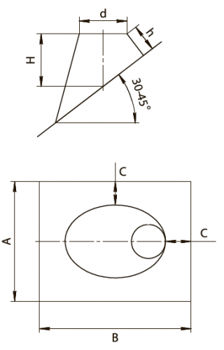 Крышная разделка угловая 30гр FERRUM AISI 430/0,5мм