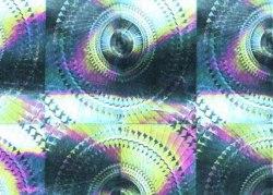 Пленка с/к 0,45х8м (голография серебро) Deluxe 6001