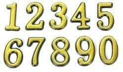 Цифра дверного номера Антал 0-9 золото H5см