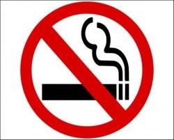 """Знак """"Запрещается курить"""" d150мм P01"""