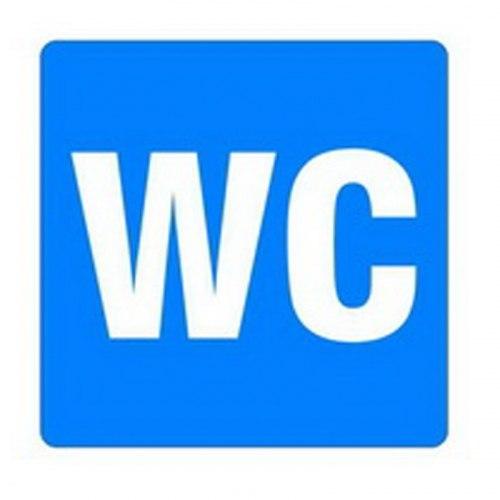 Знак WC 100*100мм