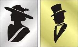"Знак ""Женщина/мужчина в шляпе"" 100*100мм пленка"