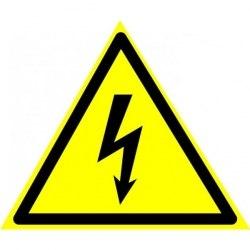 """Знак """"Опасность поражения электрическим током"""" 150*150*150мм W08"""